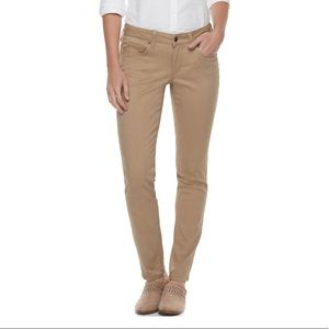 sonoma tan skinny pants